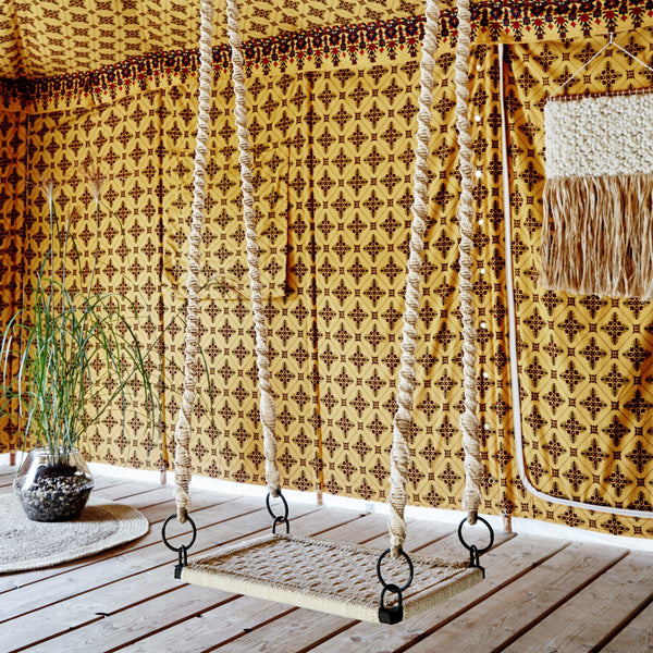 woven cotton rope swing seat