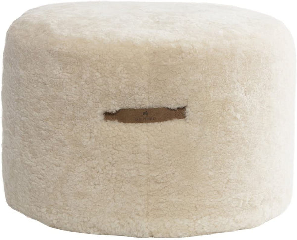 Shepherd of Sweden Eva Large Sheepskin Pouffe Pouf Beanbag Creme Cream