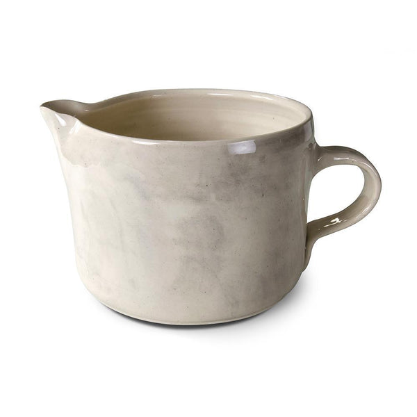 Wonki Ware Large Squat Custard Jug - Warm Grey