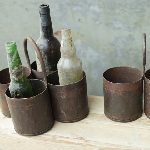 Recycled metal storage pots for cutlery bottles pens