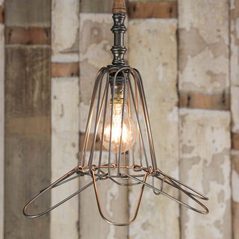 wire cage pendant Wall Light
