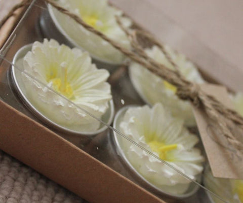 Daisy Tealights - Pink or White - Greige - Home & Garden - Chiswick, London W4
