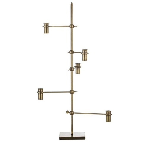 unusual five arm candelabra