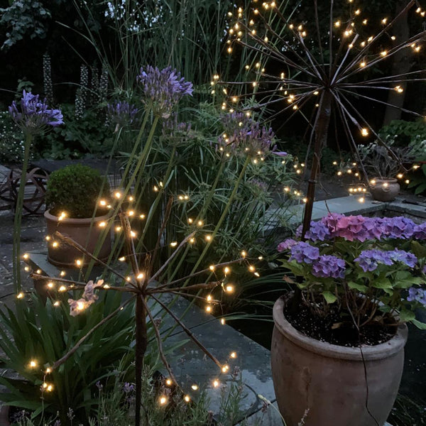 Dandelion Solar LED Outdoor Stake Light - Greige - Home & Garden - Chiswick, London W4