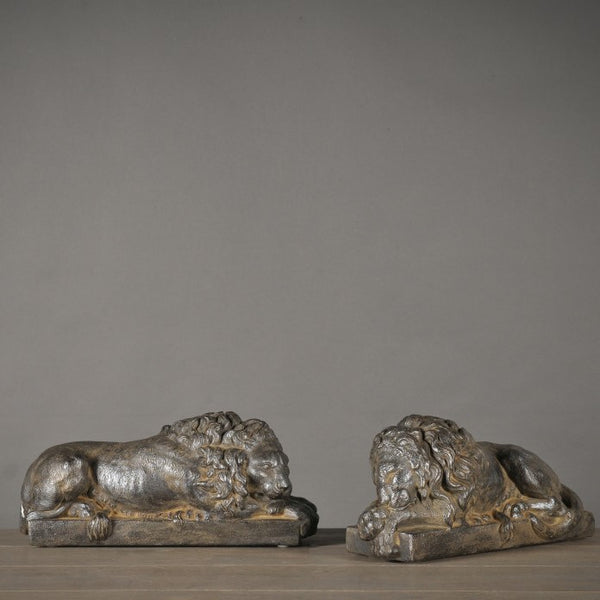 Pair of Decorative Lions - Greige - Home & Garden - Chiswick, London W4
