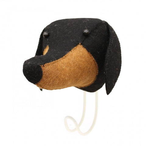 Felt Daschund Head Hook Fiona Walker