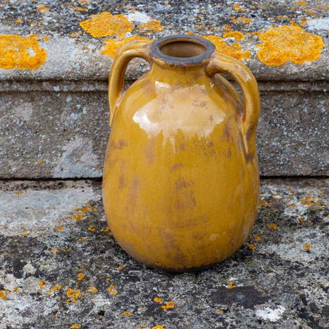 Dijon Ceramic Jar Vase with Handles - Two Sizes