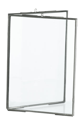 Simple Nickel Edged Glass DOUBLE Frame - Greige - Home & Garden - Chiswick, London W4