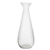tall and slim clear glass vase