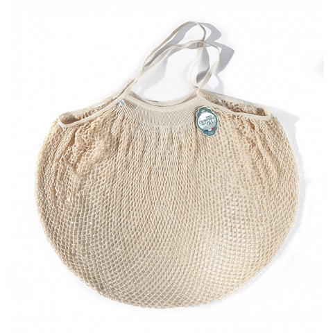 Filt Cotton String Shopping Storage Net Bag Ecru