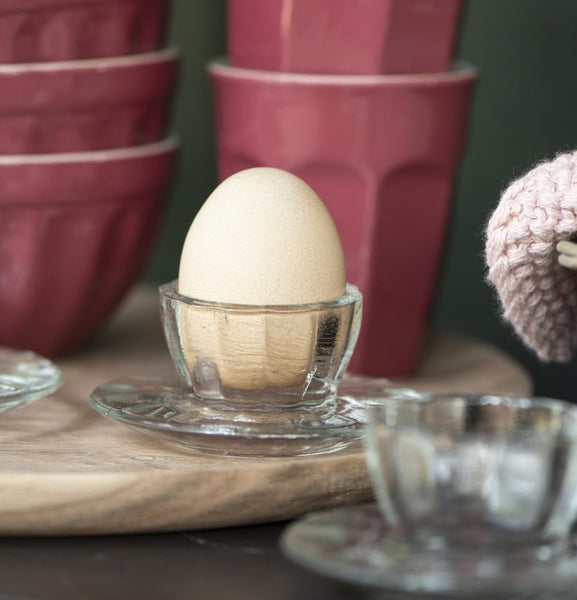 pressed glass egg cup