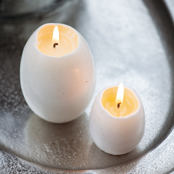Unique Egg Candles With Pale Yellow Yolks