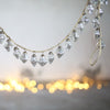Glass Bauble Garland - Antique Silver or Clear Crackle Finish - Greige - Home & Garden - Chiswick, London W4