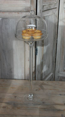 tall cake stand with dome