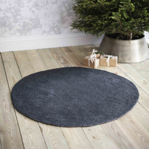 Round Grey Felt Christmas Tree Mat - Greige - Home & Garden - Chiswick, London W4
