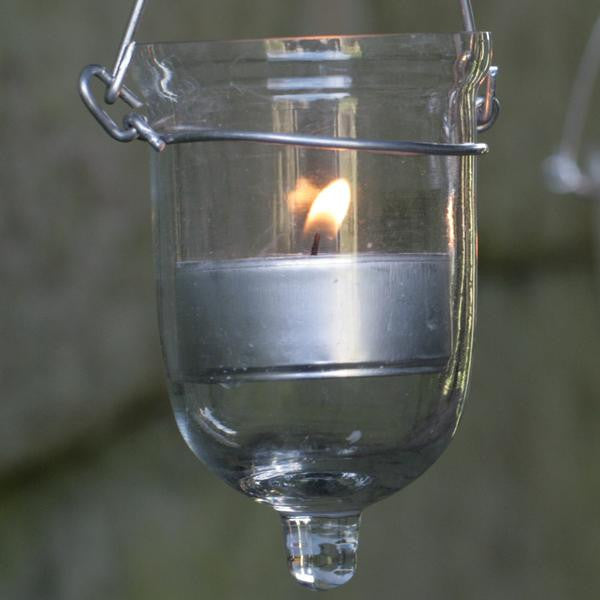 firefly hanging glass tealight holders