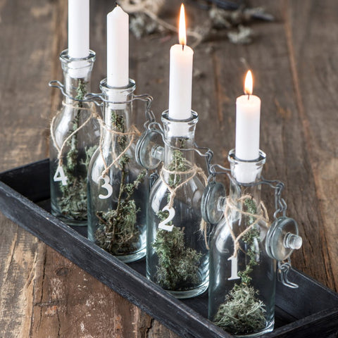 mini bottle with flip top lid candle holder