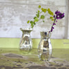 Mini Distressed Silver Glass Vase