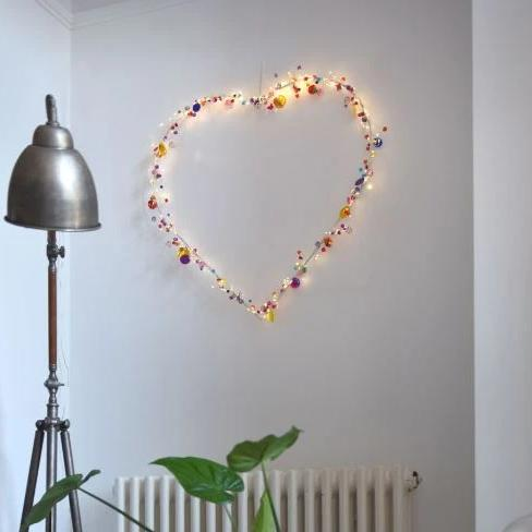 Light Up Heart LED Mains or Battery - Greige - Home & Garden - Chiswick, London W4