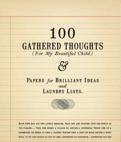 100 Gathered Thoughts Notebook - For my Beautiful Child - Greige - Home & Garden - Chiswick, London W4