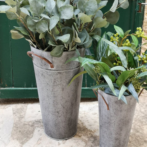 Antique zinc french florist bucket