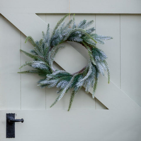 Frosted Faux Fir Wreath