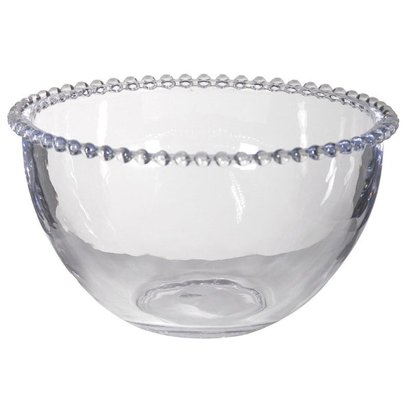 Glass Bowl with Beaded Rim - Greige - Home & Garden - Chiswick, London W4