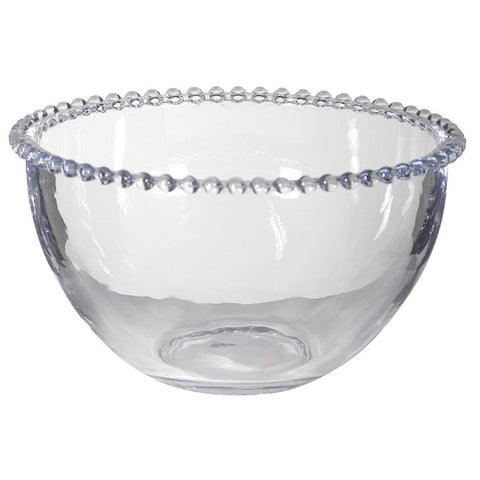 Glass Bowl with Beaded Edges edging border
