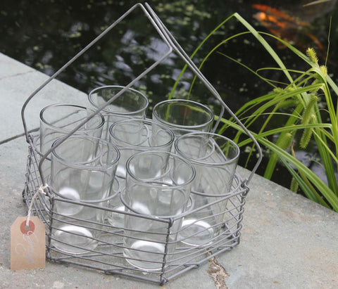 Hexagonal Glasses Carrier with Six Glasses