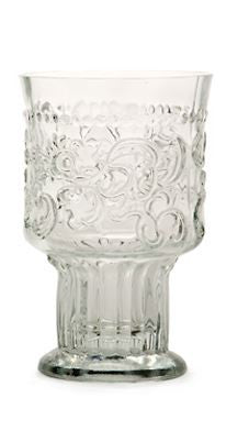 hand-made wine glass from Portugal clear