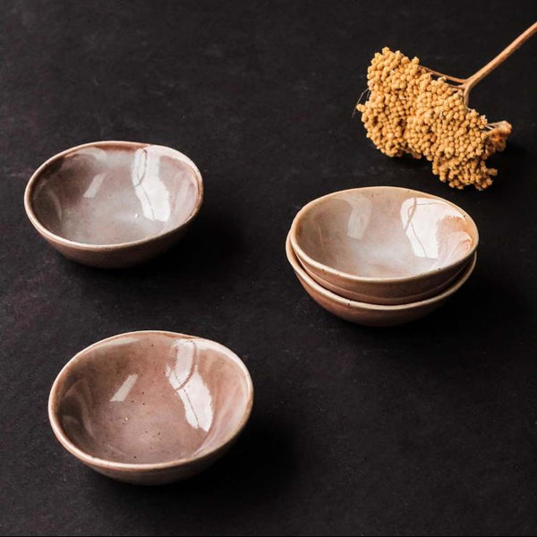 Grace Ceramic Dipping Bowls - Greige - Home & Garden - Chiswick, London W4