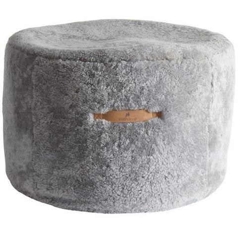 Shepherd of Sweden Eva Sheepskin Pouff Beanbag Granite Grey