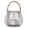 Grey Wire Lantern - Greige - Home & Garden - Chiswick, London W4