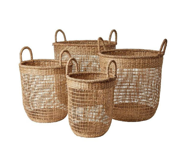 Openweave Seagrass Baskets - Greige - Home & Garden - Chiswick, London W4