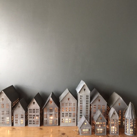 Danish Tin Houses for Tealights from Walther & Co - Greige - Home & Garden - Chiswick, London W4