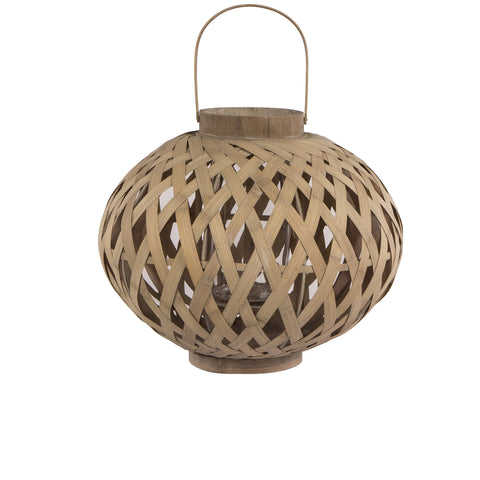 "Very Large Round Bamboo Lantern ""Hedy"" - Greige - Home & Garden - Chiswick, London W4"