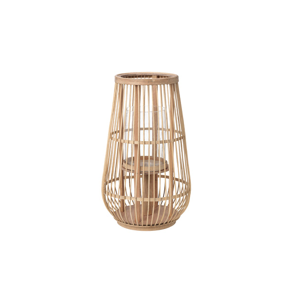 "Broste Bamboo Wooden Lantern ""Cait""- Natural - Greige - Home & Garden - Chiswick, London W4"