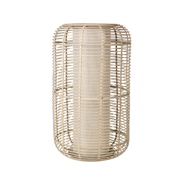 "Broste Bamboo Wooden Lantern ""Carlos""- Natural - Greige - Home & Garden - Chiswick, London W4"