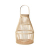 "Broste Bamboo Wooden Lantern ""Birdy""- Natural - Two Sizes - Greige - Home & Garden - Chiswick, London W4"