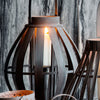 "Dark Wooden Lantern from Broste Copenhagen ""Arne"" - Three Sizes - Greige - Home & Garden - Chiswick, London W4"