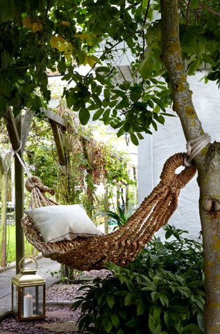 Wonderful Water Hyacinth Hammock - Single or Double - Greige - Home & Garden - Chiswick, London W4