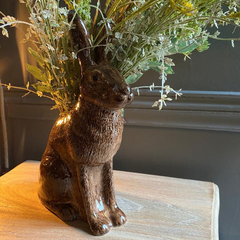 Large Hare Flower Vase by Quail Ceramics