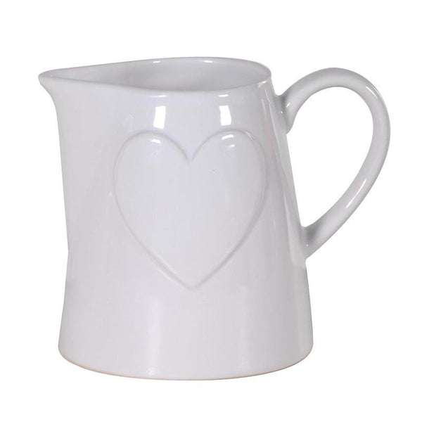 White Heart Jug - Greige - Home & Garden - Chiswick, London W4