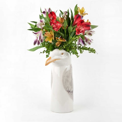 Large Herring Gull Flower Vase by Quail Ceramics - Greige - Home & Garden - Chiswick, London W4
