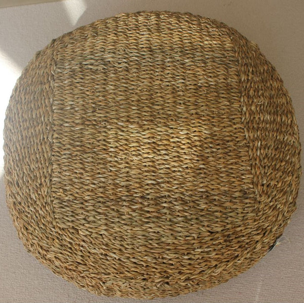 Hogla Large Round Seat or Pouffe or Footstool - Greige - Home & Garden - Chiswick, London W4