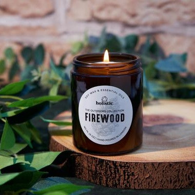 Scented Soy Wax Candle with Pure Essential Oils - Outdoors In