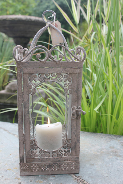 Beautiful Metal & Glass Lantern - Greige - Home & Garden - Chiswick, London W4