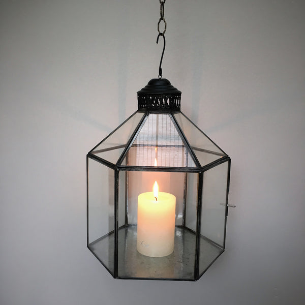 Danish Hexagonal Hanging Lantern - Greige - Home & Garden - Chiswick, London W4