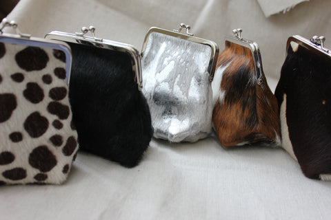 Cow Hide Coin Purse - Greige - Home & Garden - Chiswick, London W4