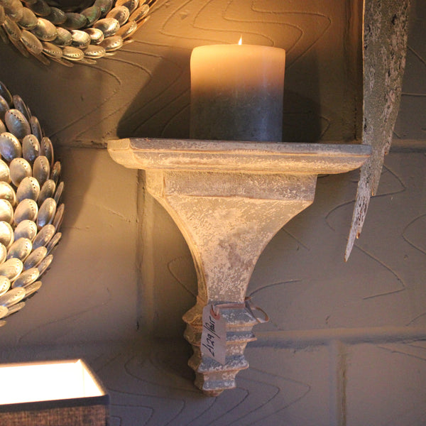 Grey Stone Effect Wall Sconce Bracket Corbel